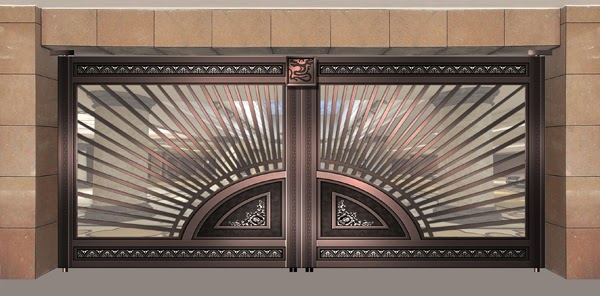 Main gate design m m a fabrication grill 39 s for Main gate door design